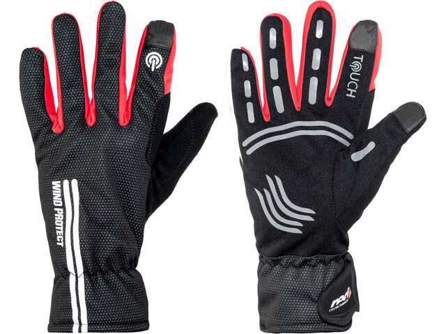 Red Cycling Products Windproof Race Bike Gloves black-red